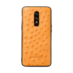 ONE PLUS 6 MOBILEPHONE CASE OSTRICH,  tan