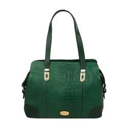 Harajuku 01 Handbag, baby croco,  green