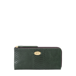 Gemini W1 Sb(Rfid) Women's Wallet, Snake Melbourne Ranch,  emerald green