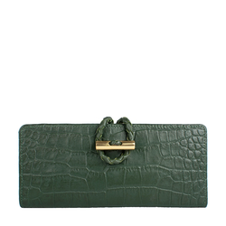 EPOCCA W2 RF WOMENS WALLET CROCO,  emerald green