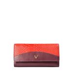 Virgo W1 Sb (Rf) Women s Wallet, Melbourne Ranch Snake,  aubergine