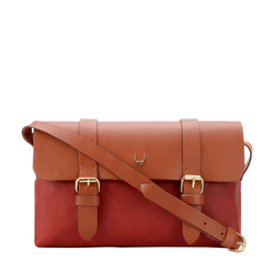 HIDESIGN X KALKI MOTOR 03 SLING BAG WAXED SPLIT,  red