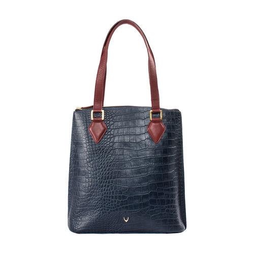 Scorpio 01 Sb Women s Handbag Croco,  midnight blue
