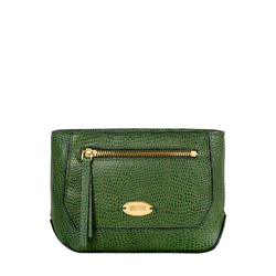 Taurus W1 (Rfid) Women's Wallet, Lizard Melbourne Ranch,   emerald green