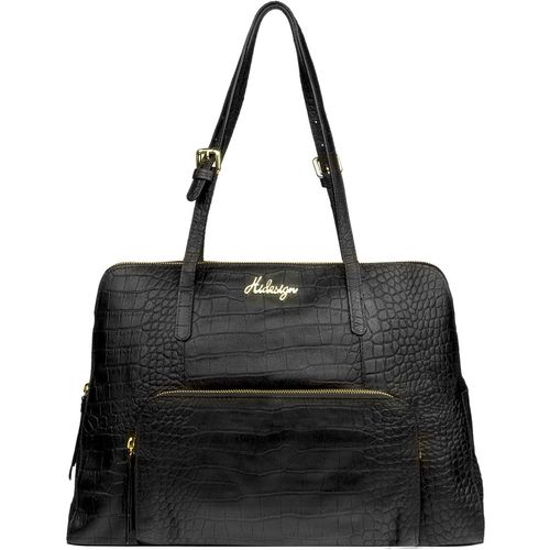 109 02 Women s Handbag, Croco,  black