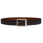Isaac Men s Belt, Marrakah Small Weave Soho, 34-36,  brown