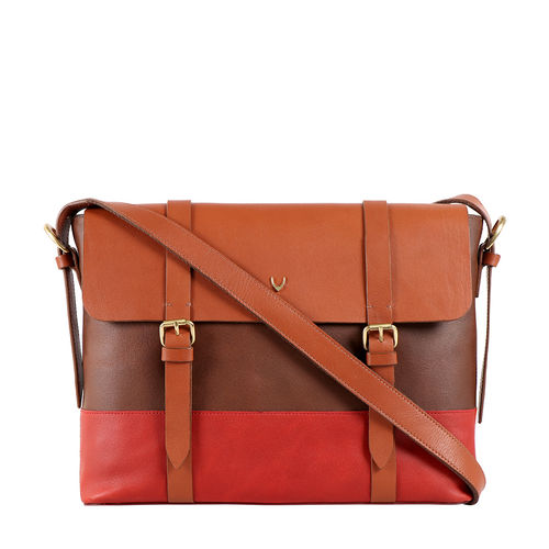 HIDESIGN X KALKI MOTOR 01 WOMEN S CROSSBODY WAXED SPLIT,  tan