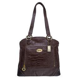 Luna 01 Handbag, croco,  brown