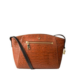 Bonnie 02 Handbag, croco,  tan