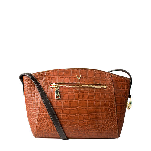 Bonnie 02 Handbag, croco,  tan