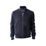 Depp Men s Jacket Goat Suede L,  navy blue, l