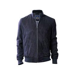 Depp Men's Jacket Goat Suede L,  navy blue, l