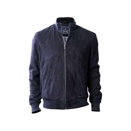 Depp Men s Jacket Goat Suede L,  navy blue, l