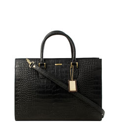 Kester Satchel, croco,  black