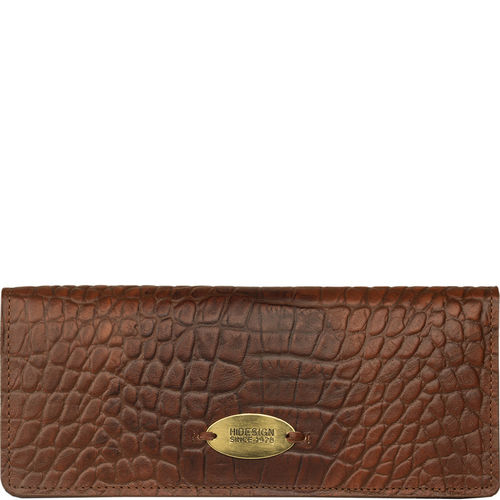 Claea W1 Women s Wallet, Cement Croco Lamb,  tan, croco