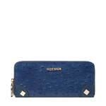 VOODOO W2 RF WOMENS WALLET OSTRICH EMBOSSED,  midnight blue