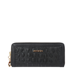 GLAM W1 RF WOMENS WALLET BABY CROCO,  black
