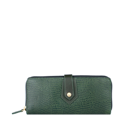 Hong Kong W2 Sb (Rfid) Women's Wallet, Lizard Melbourne Ranch,  emerald green