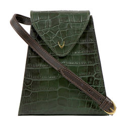 Spruce 01 Sb Women's Handbag Croco,  emerald green