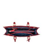 Rose 01 Women s Handbag, Rose Emboss Mel Ranch Split,  red