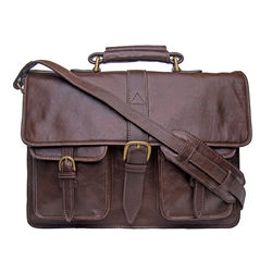 Castello Briefcase, Ranchero Maori,  brown