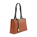 Leo 01 Sb Women s Handbag, Hdn Woven Melbourne Ranch,  tan