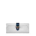 Sb Atria W1 Women s Wallet, Cement Croco Ranchero Lamb,  white