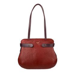 Brigitte 01 Handbag, snake,  red