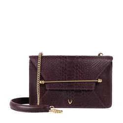 Delilah 01 Women's Handbag Snake,  aubergine