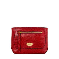 Taurus W1 (Rfid) Women's Wallet, Lizard Melbourne Ranch,  red