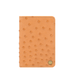 Chateau 03 Card Case Ostrich,  tan