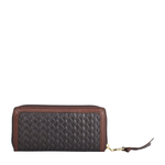 Tanzanite W1 Women s wallet, Hdn Woven Ranch Lamb,  brown