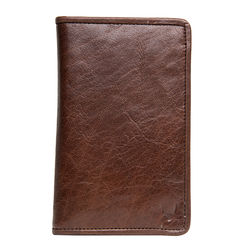 267-031F Passport holder, khyber,  brown