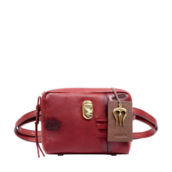 SADHAVI 04 WOMENS HANDBAG COW BOY,  marsala
