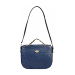 ROMANCE 01 WOMENS HANDBAG OSTRICH EMBOSSED,  midnight blue