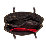 109 02 Women s Handbag, Croco,  brown