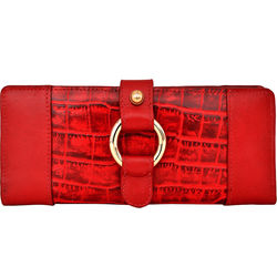 Nakasu W2 Women's Wallet, croco,  red