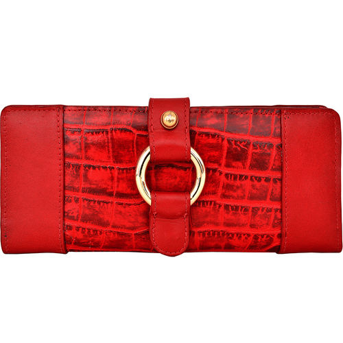 Nakasu W2 Women s Wallet, Croco Melbourne,  red, croco