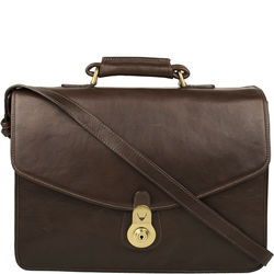 GI First Briefcase,  brown, ranchero