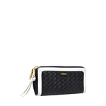 Tanzanite W3 Women s Wallet, Hdn Woven Ranch Lamb,  black