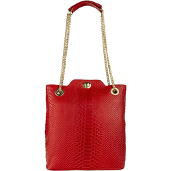 SB ALYA 02 WOMEN'S HANDBAG SNAKE,  red