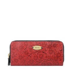 VIOLA W2 SB WOMENS WALLET FLOWER EMBOSSED,  red