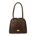 Ee Cleo 01 Handbag,  brown, croco