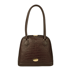 Ee Cleo 01 Handbag, croco,  brown