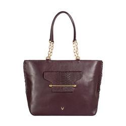 Delilah 03 Women's Handbag Snake,  aubergine