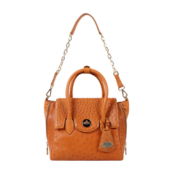 Varzy Women's Handbag Ostrich,  tan