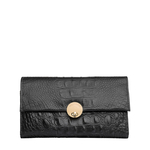 Savoy W2 Women s Wallet, Baby Croco Ranch,  black, baby croco