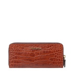 EE MOROCCO W3 RF WOMENS WALLET CROCO,  tan