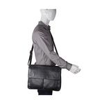 TRAVOLTA 01 MESSENGER BAG NEW SIBERIA,  black