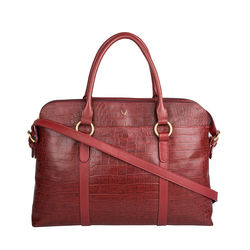 Lovato 01 Women's Handbag, Croco Melbourne Ranch,  red